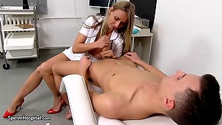 Hawt Nurse Is Wearing Hot Uniform During The Time That Playing With Her Patients Alternative Hard Meat Stick
