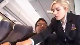 American Stewardess Tugjob - Part 1
