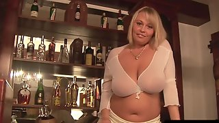 Polish Giant Breasts Star Wanessa Lilio Showing Her Breasts On Bar