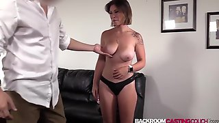 Natural Large Bazookas Aubree Creampied Hard In First Casting