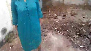 Desi Hot Teacher Outdoor Risky Public Drilled By