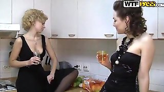 Sweet Ladies Are Partying And Lazily Getting Drunk, Which Means That They Will Have Group Sex