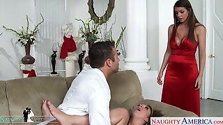 Groom Fucks Bridesmaids On The Wedding Day Threesome HD Porn Video