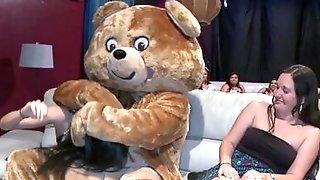 Dancing Bear Lets The Randy Gals At A Hen Party Enjoy His Schlong
