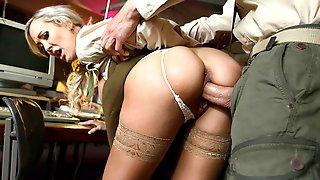 Buxom Military Secretary Brandi Love Seduced
