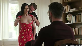 Check Out The Great Tits On Tempting Alex Coal And Cuckolds Reaction