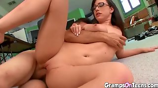 Horny College Teen Fucked By Her Mature Teacher