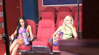 Esmerelda And Sophie Moone Have Lesbian Fun In A Cinema. Backstage Clip