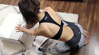 Horny Girl Receives Her Fresh PS5 - Delivery Stud Gets Invited For UNBOXING Fuck-a-thon!
