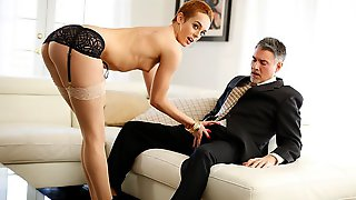 Spicy Short-haired Chick Sidra Sage Rides On A Big Dick With Passion