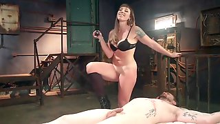 A Ball-gagged Male Slave Gets Pegged And Used By His Hot Mistress With Cadence Lux And Michael Vegas
