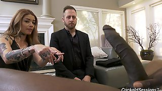 Tattooed Whore Plays Submissive