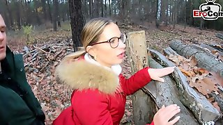 German Blonde Milf At Forest Sexdate Pov