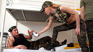 Petite Commander Lara Frost Orders Anal Gangbang Offensive GP1913