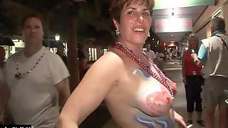 In This First Naked Street Party Scene, Youll Be Watching A Beautiful Blonde