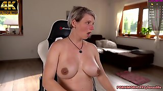 Large Breasts Aged Squirt On Gaming Chair