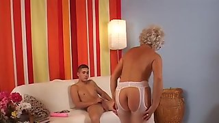 Short Sighted Grannys #1 - Her Grandson Would Be Horrified To Know That His Ally Is Banging His Grandma In One As Well As The Other Holes