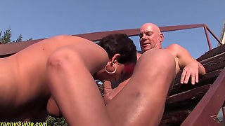 Hungarian Woman With Red Hair Is Having Casual Sex With A Neighbour, Next To The Swimming Pool