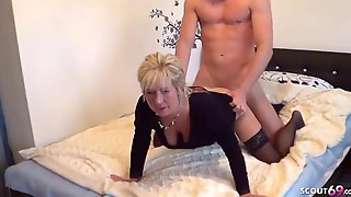 German Granny In Hawt Clothing Is Riding A Hard Rod After Sucking It Like A Pro