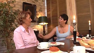 Granny Gets Treated Well By A Youthful And Subrigid Schlong After Dinner