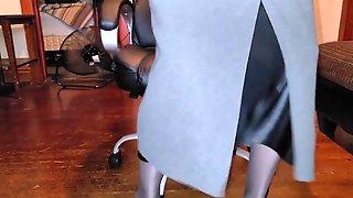 Lengthy Ebony Liquid Satin Half Slide With Lengthy Petticoat