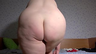 A Breasty Mother Id Like To Fuck With A Wet PAWG Bushy Vagina Chunky Abdomen And Large Bazookas Tries On Different Belts On The Cam Homemade Fetish