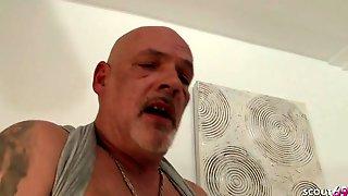 SCOUT69 - Dad Caught German Large Tit Tattoo Step Daug And Bang