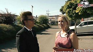 German Blonde Milf Pick Up Guy For Sauna Sex