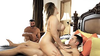 Natasha Nice Gets Eaten Out And Fucked In Front Of Her Cuckold Husband