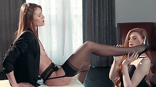 Straplezz And And Seductive Stoc With Mia Reese And Rossy Bush