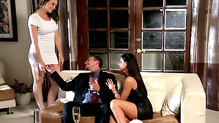 Chanel Preston And India Summer Share Eager Cock