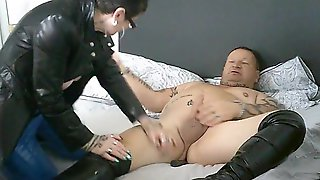 My Latex Mother Id Like To Fuck Gives Me Anal In Her Lengthy Leather Coat