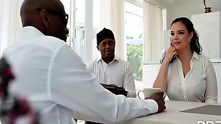 2 Black Dudes Get A Special Delivery Of Sofia Lees Huge Tits & Ass