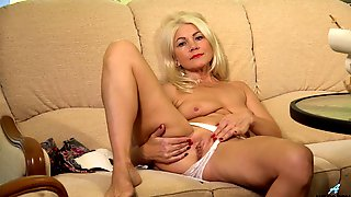 Blonde Mature Plays With Her Wet Snatch In A Soft Solo