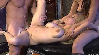 Marvelous Threesome For Two Women With Insane Asses