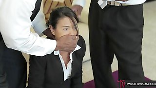 Raven-haired Chick Dana Vespoli Is Swallowing Interracial Cum