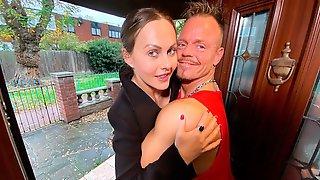 Brunette British Pornstar TINA KAY Fucks A VIRGIN While His Plushies Are Watching