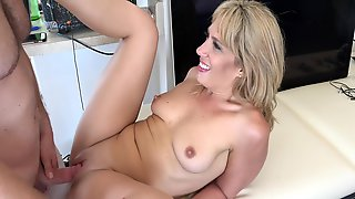 Blonde Beach Milf Invites A Young Guy Back To Her Apartment For Sex