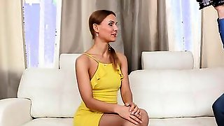 Cute Euro Teen Was Eager To Showcase Her Sex Skills On A Casting