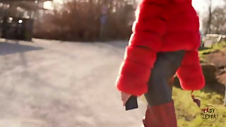 Walking In Red Boots