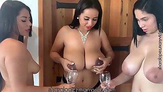 Enjoy - Lesbian Threesome With Boob Milking Fetish