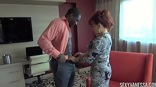 Experienced Redhead Sexy Vanessa Has A Fat Dick Between Her Lips