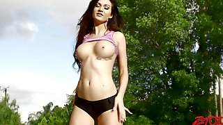 Gentle Fucking With Hot Ass Cheerleader Kendall Karson + Creampie