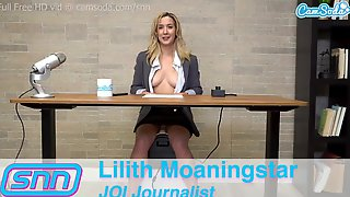 TV Anchor Rides Sybian And Has Biggest Climax LIVE