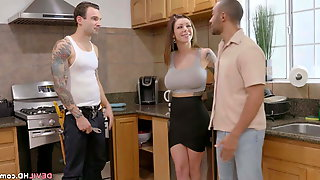 Slutty Wife Fucks The Contractor Instead Of Paying