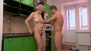 Busty Blonde Mature Found Herself Some Young Meat