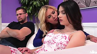 Couples Therapy Ends With Hardcore Lesbian Sex In Front Of Husband