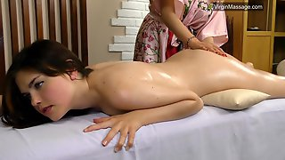 First Time Hungarian Babe Massaged