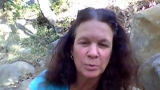 Katharine Foster Flashes Slit Outdoors - Katharine Foster