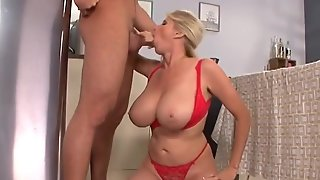 MILF AND STEPSON - Alone At Home - Mature